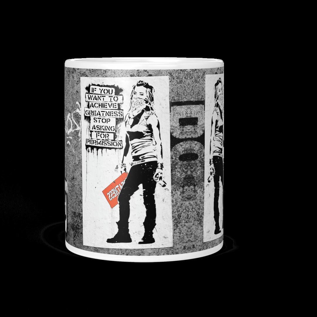 Achieve Greatness Urban Art Coffee Mug 11oz