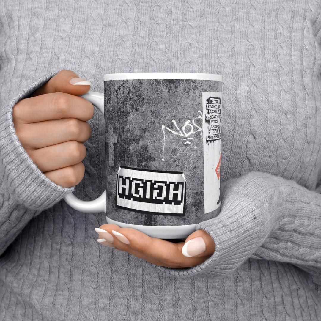 Achieve Greatness Urban Art Coffee Mug 15oz