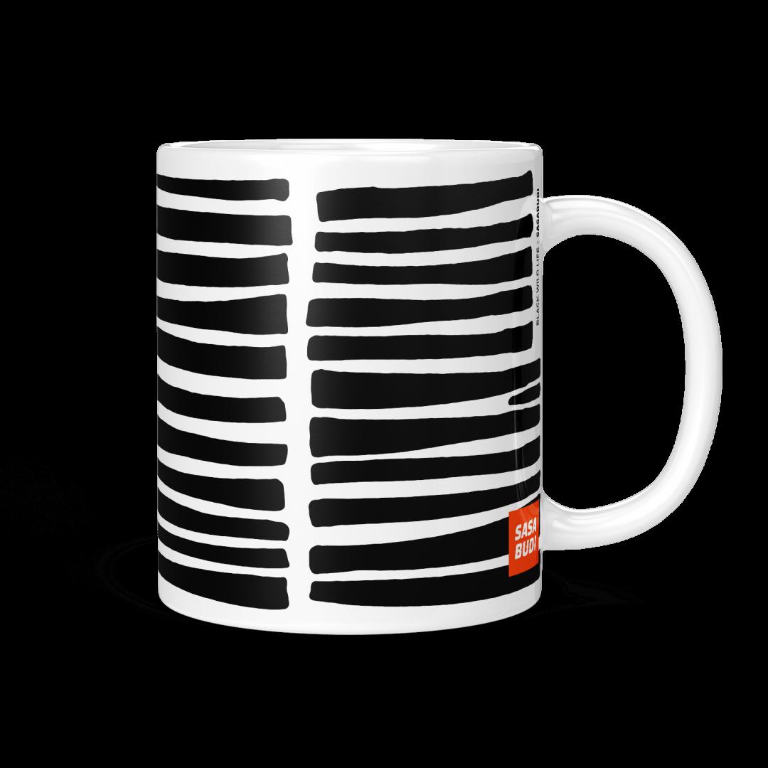 Black Wild Life Coffee Mug 11oz