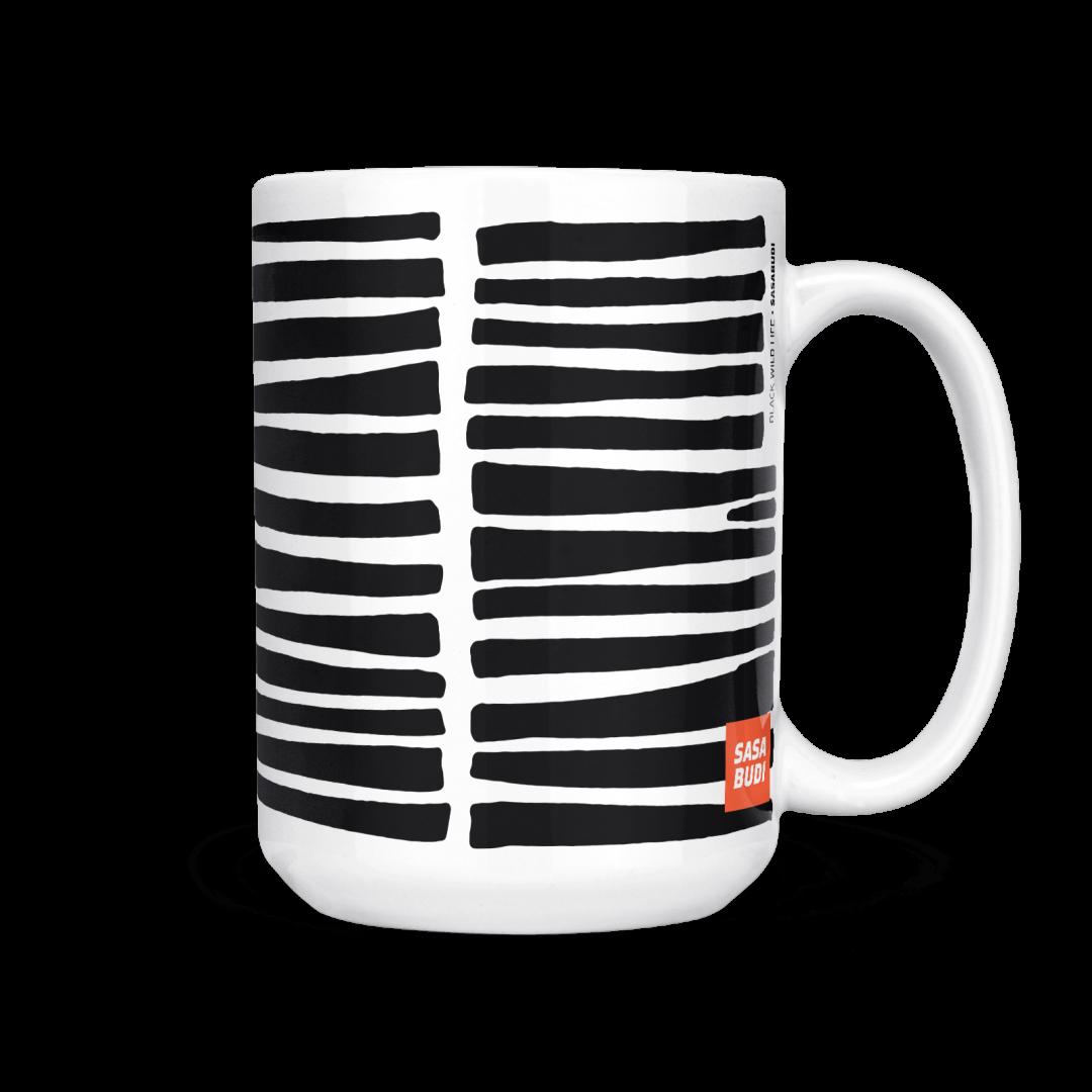 Black Wild Life Coffee Mug 15oz