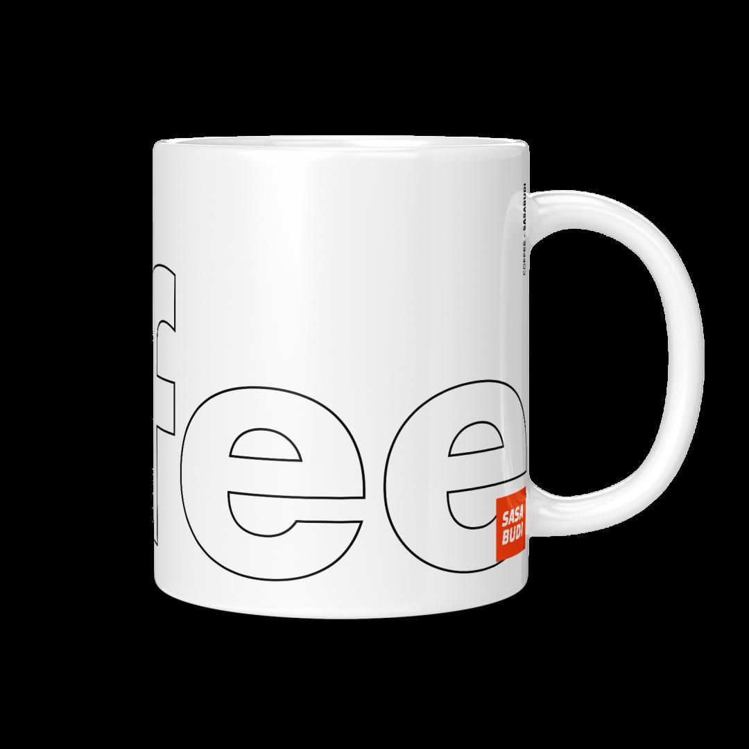 Coffee Typography Mug 11oz - Black