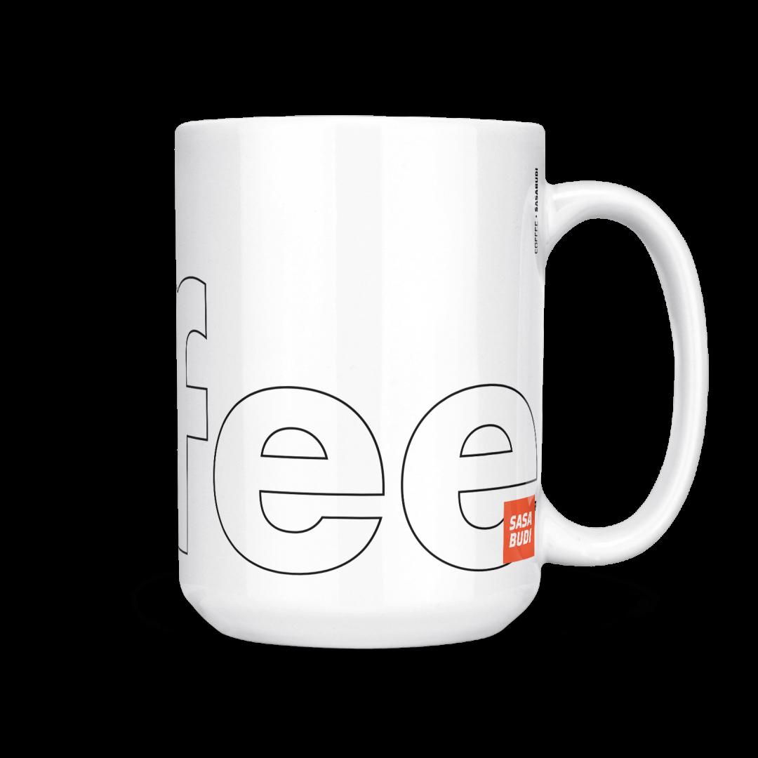 Coffee Typography Mug 15oz - Black