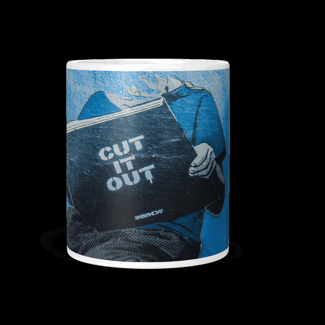 Cut It Out Urban Art Coffee Mug 11oz