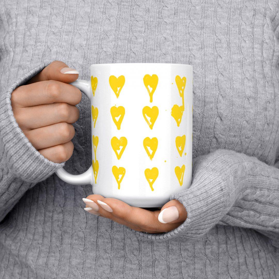High On You Coffee Mug 15oz - Golden
