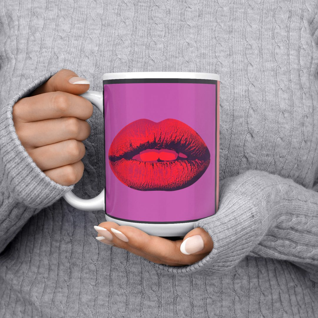 Mon Amour Lady Liberty Pop Art Coffee Mug 15oz