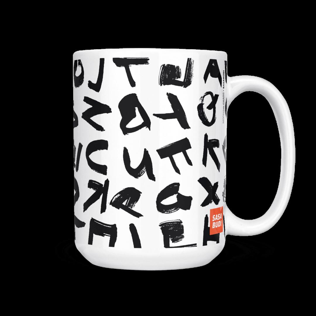 Morning Chaos Coffee Mug 15oz - Black