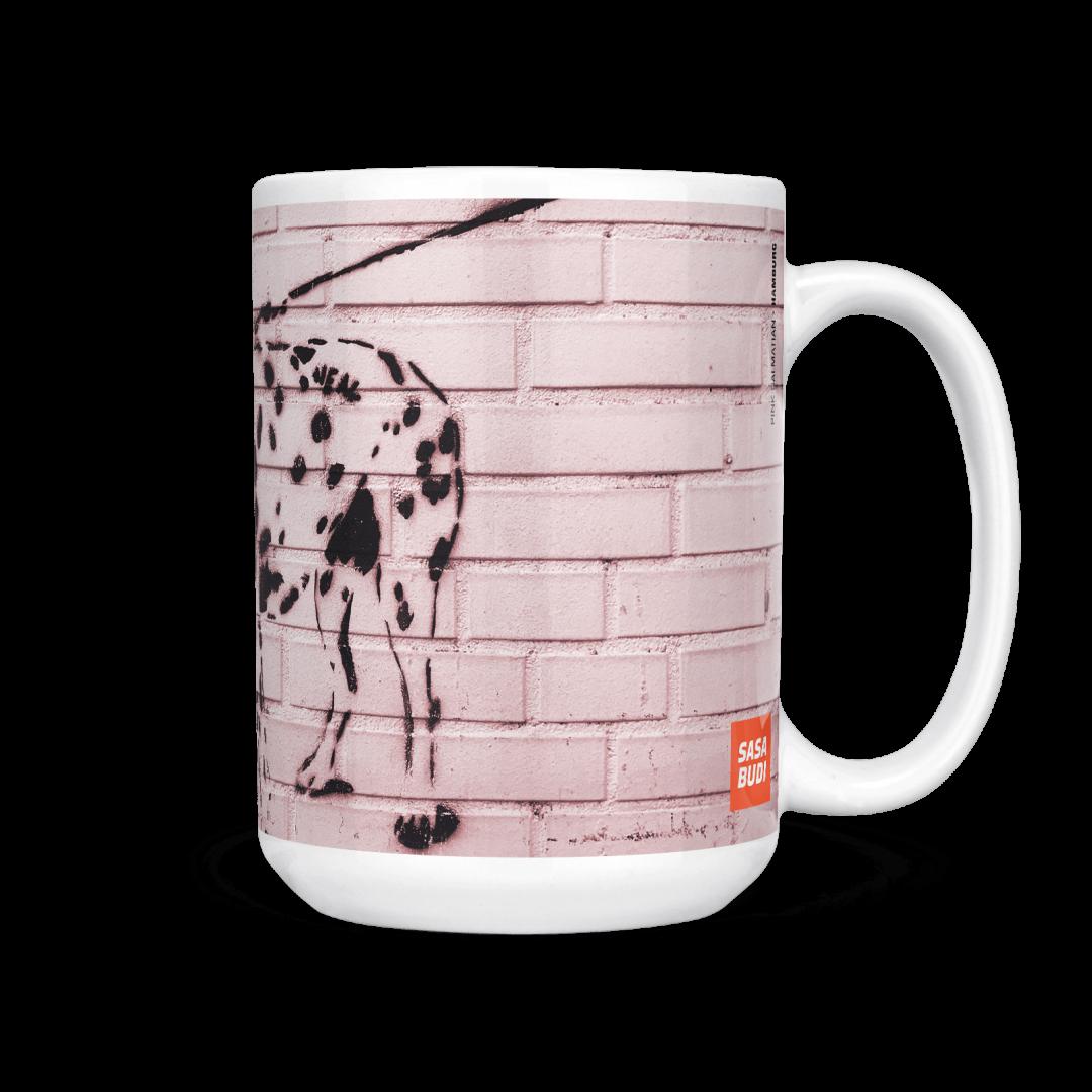 Pink Dalmatian Urban Art Coffee Mug 15oz
