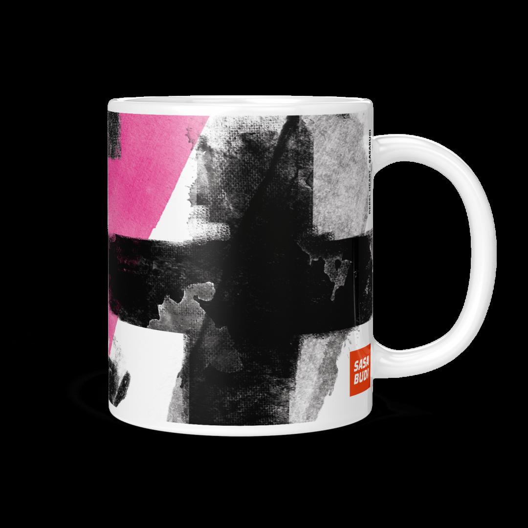 Rebel Heart Pop Art Coffee Mug 11oz