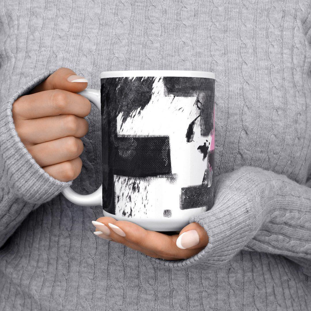 Rebel Heart Pop Art Coffee Mug 15oz