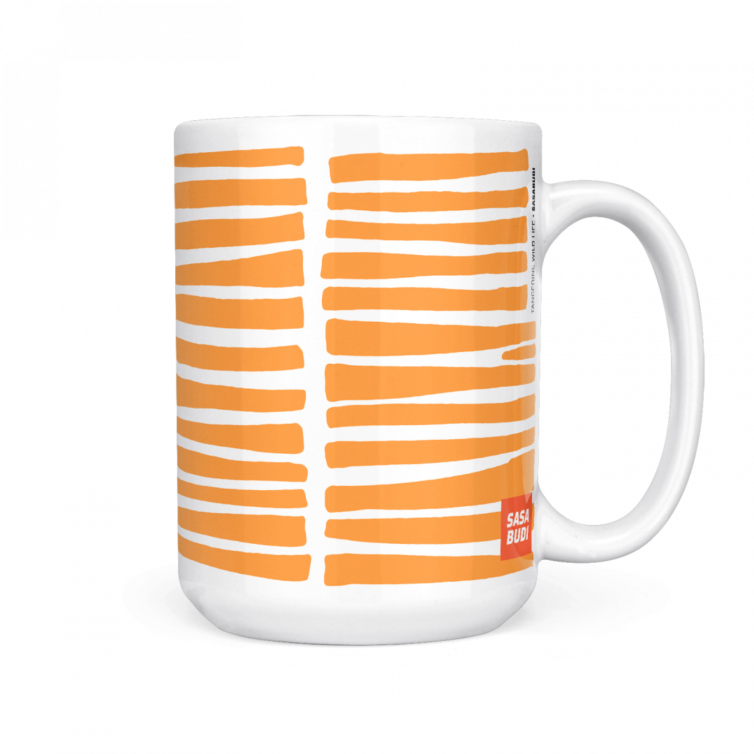 Tangerine Wild Life Coffee Mug 15oz