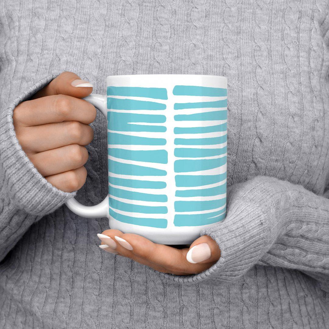 Turquoise Wild Life Coffee Mug 15oz