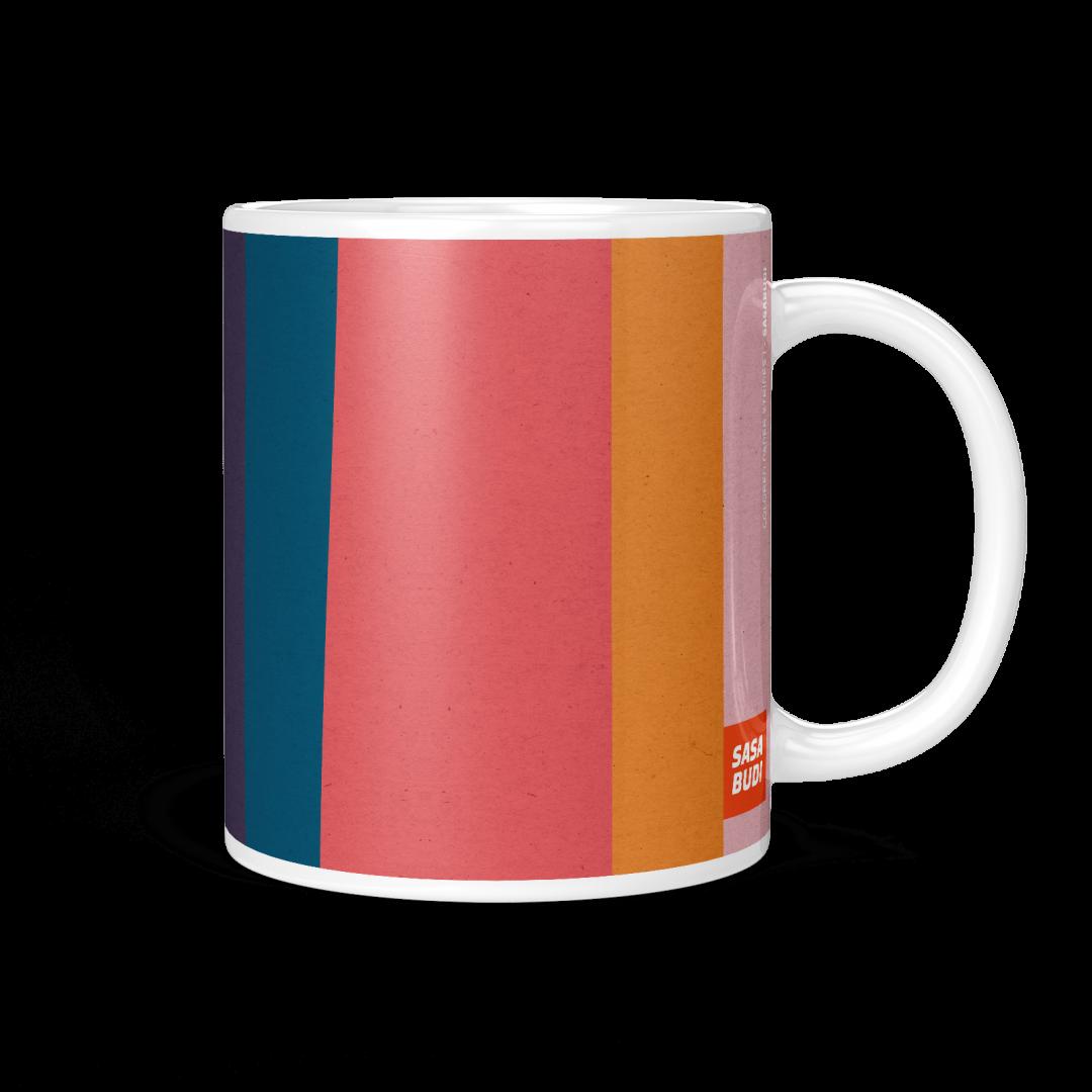 Colored Paper Stripes No1 Geometric Coffee Mug 11oz