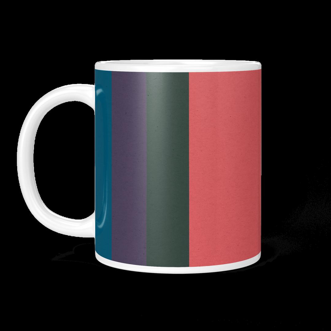 Colored Paper Stripes No2 Geometric Coffee Mug 11oz