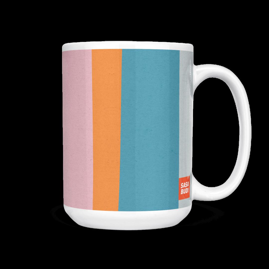 Colored Paper Stripes No2 Geometric Coffee Mug 15oz