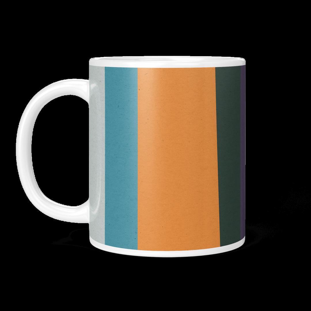 Colored Paper Stripes No3 Geometric Coffee Mug 11oz