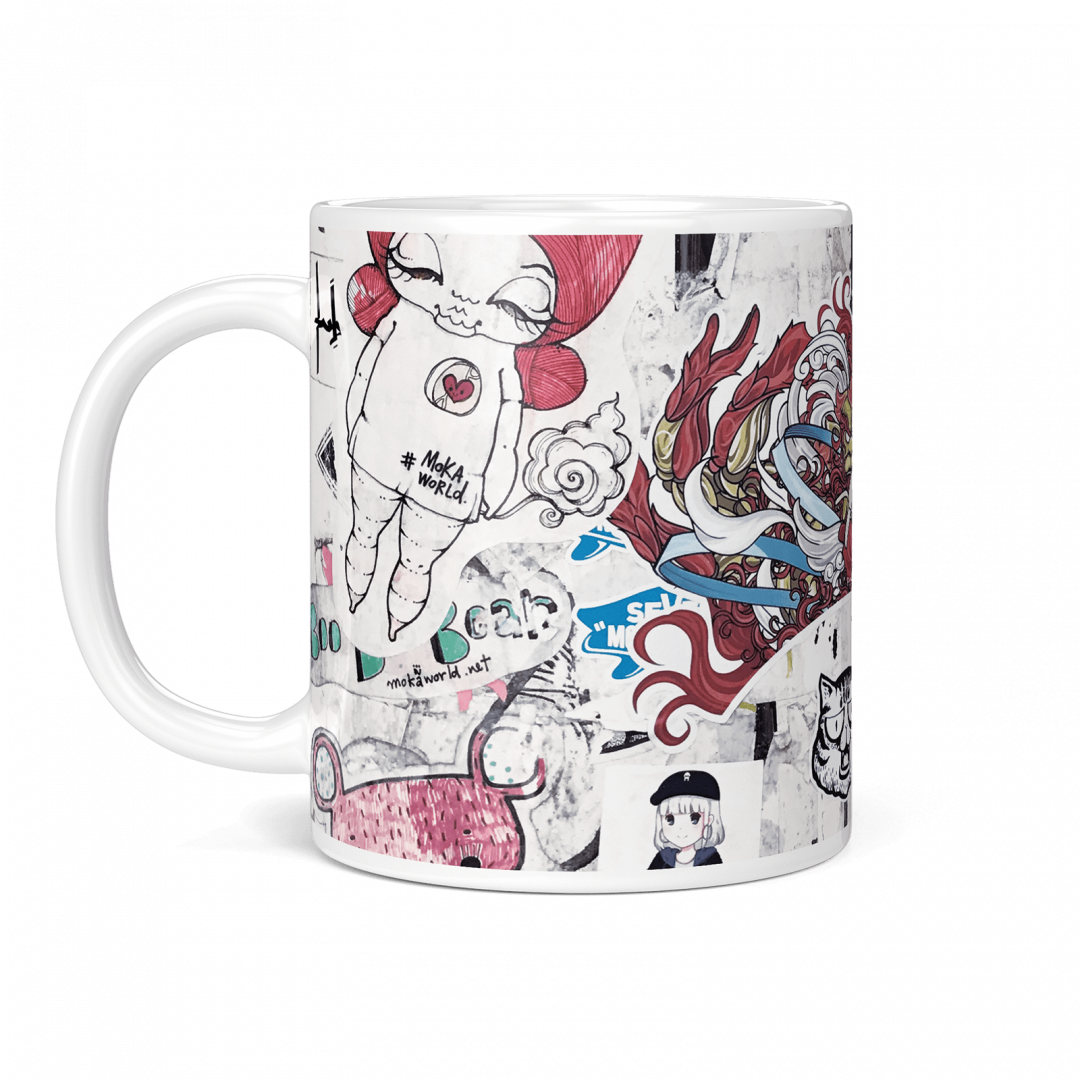 Everyday Happy No1 Urban Art Coffee Mug 11oz