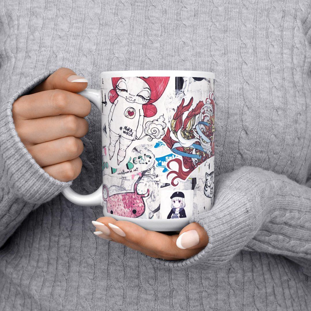 Everyday Happy No1 Urban Art Coffee Mug 15oz