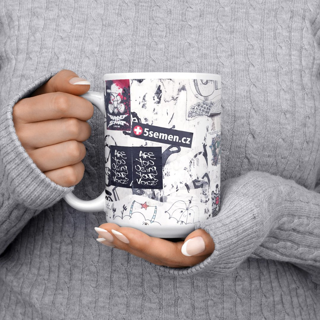 Everyday Happy No2 Urban Art Coffee Mug 15oz