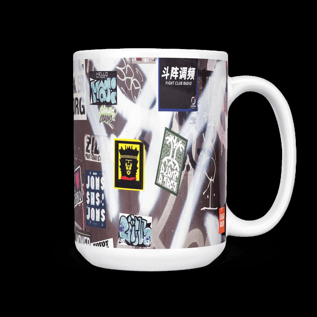 Fight Club Radio No2 Urban Art Coffee Mug 15oz