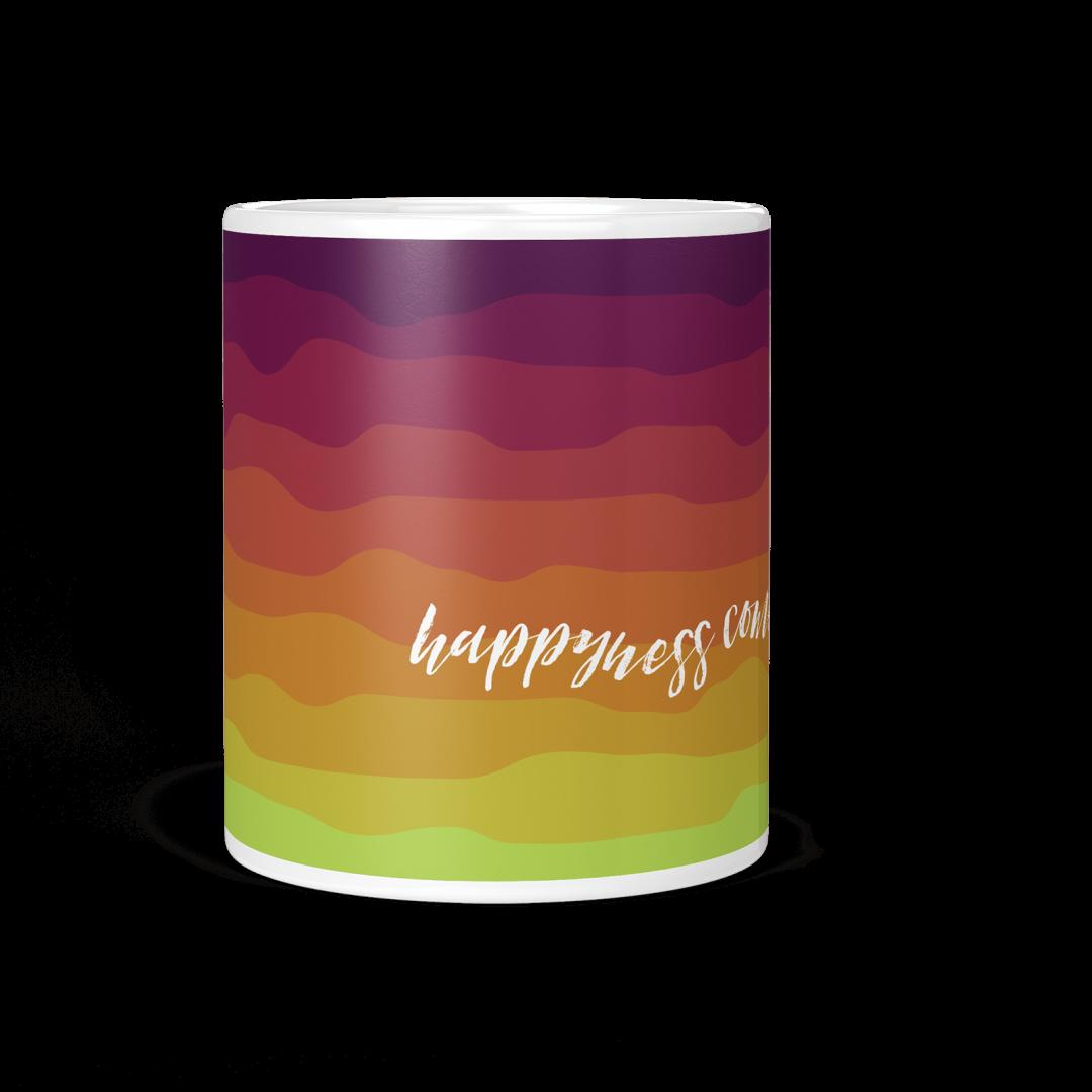 Happiness Comes In Waves No1 Coffee Mug 11oz