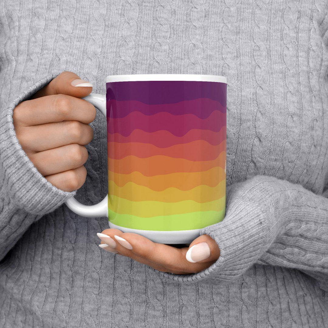 Happiness Comes In Waves No1 Coffee Mug 15oz