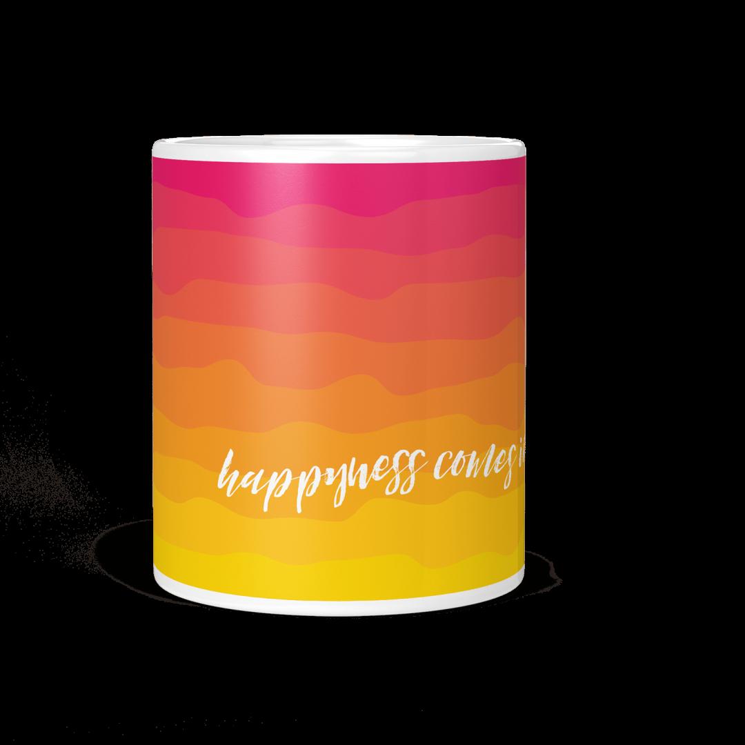 Happiness Comes In Waves No3 Coffee Mug 11oz
