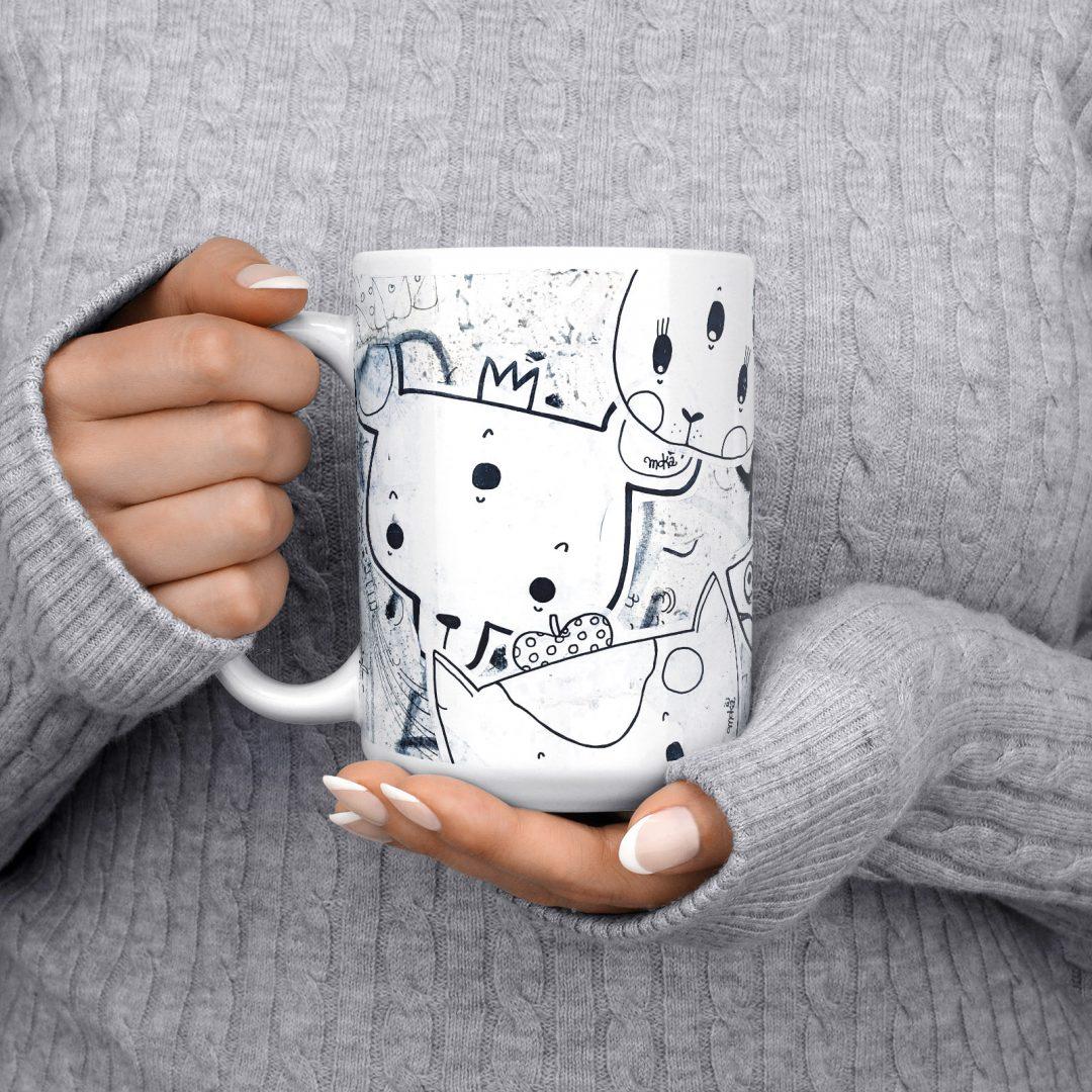 Moka No1 Urban Art Coffee Mug 15oz