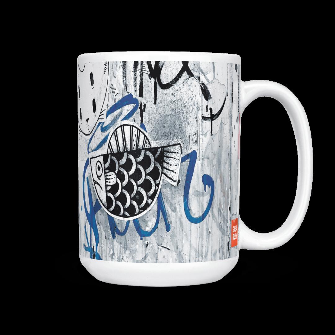Moka No2 Urban Art Coffee Mug 15oz
