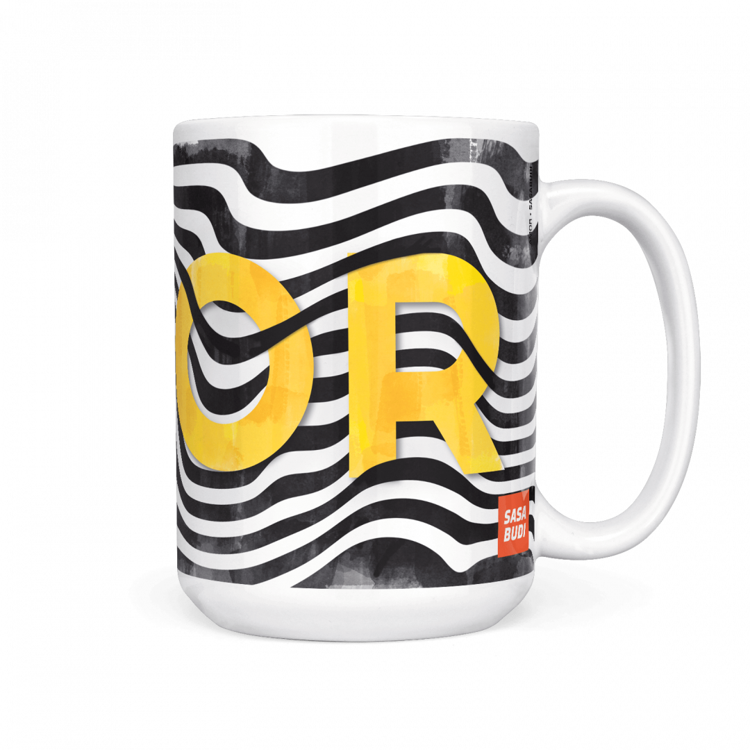 Sasabudi AMOR Abstract Coffee Mug 15oz