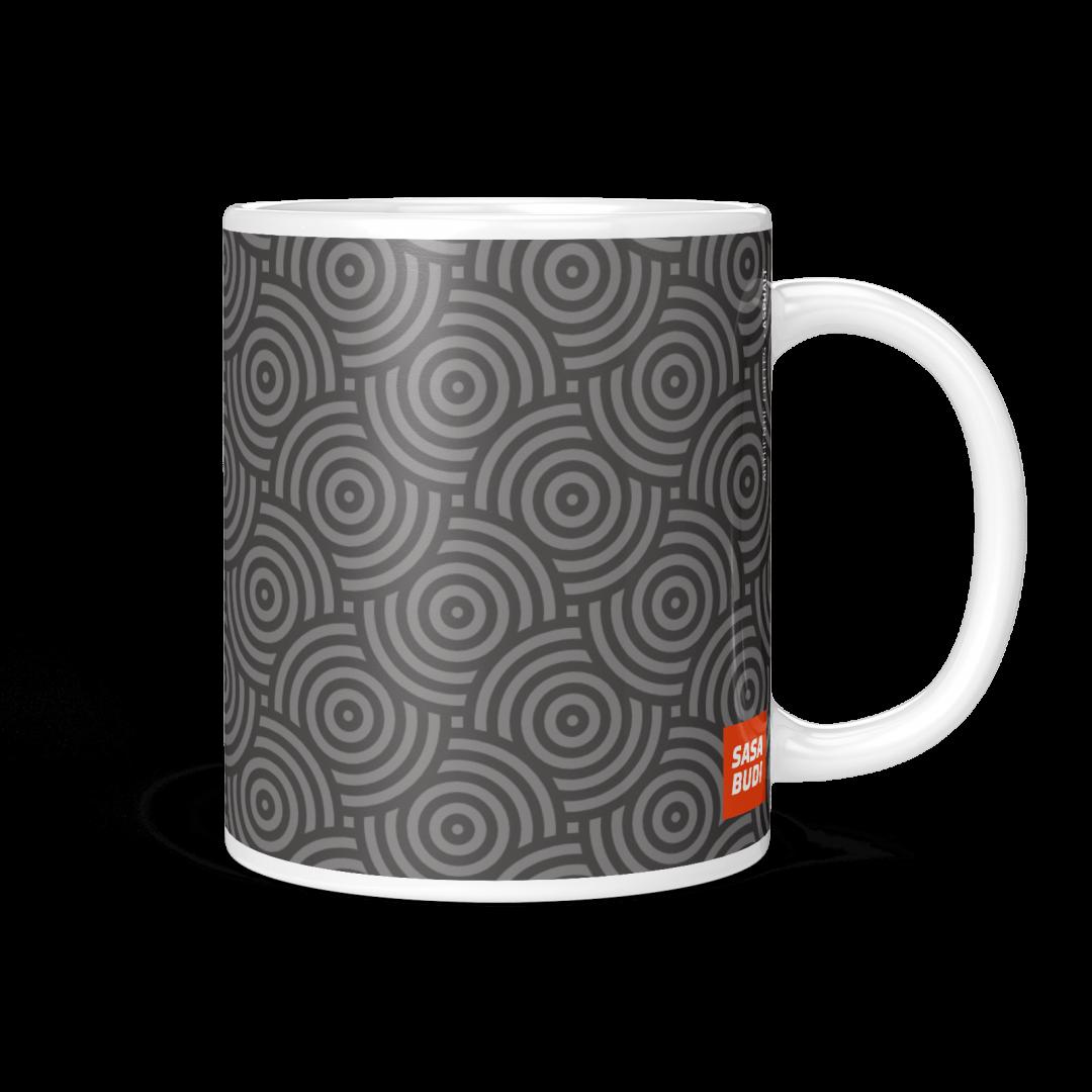 Sasabudi Authentic Circles Asphalt Coffee Mug 11oz