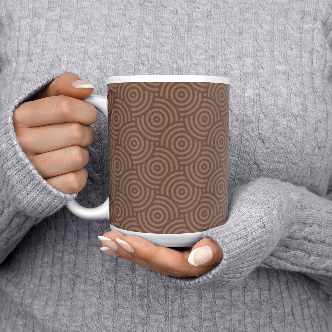 Sasabudi Authentic Circles Tobacco Coffee Mug 15oz