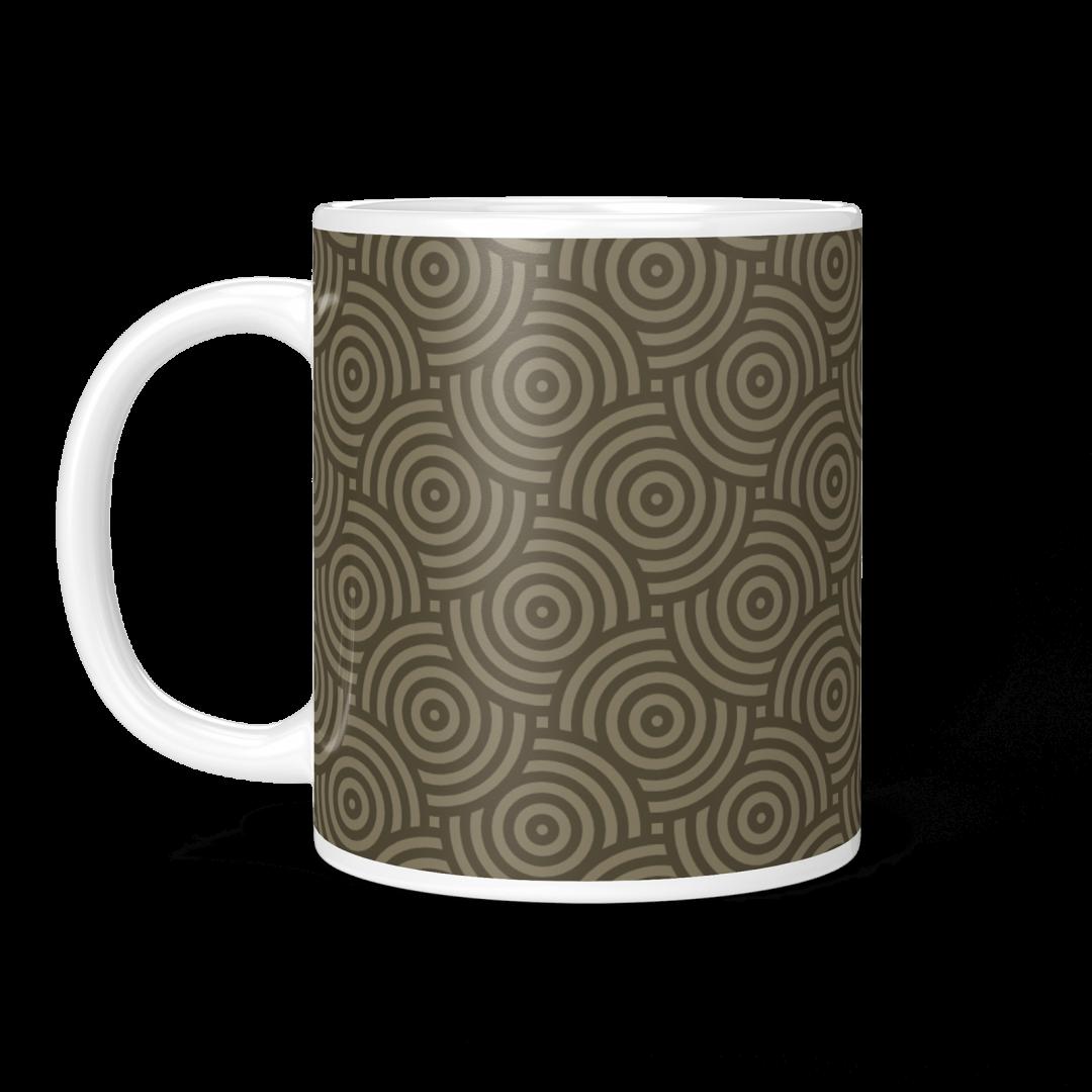 Sasabudi Authentic Circles Urban Jungle Coffee Mug 11oz