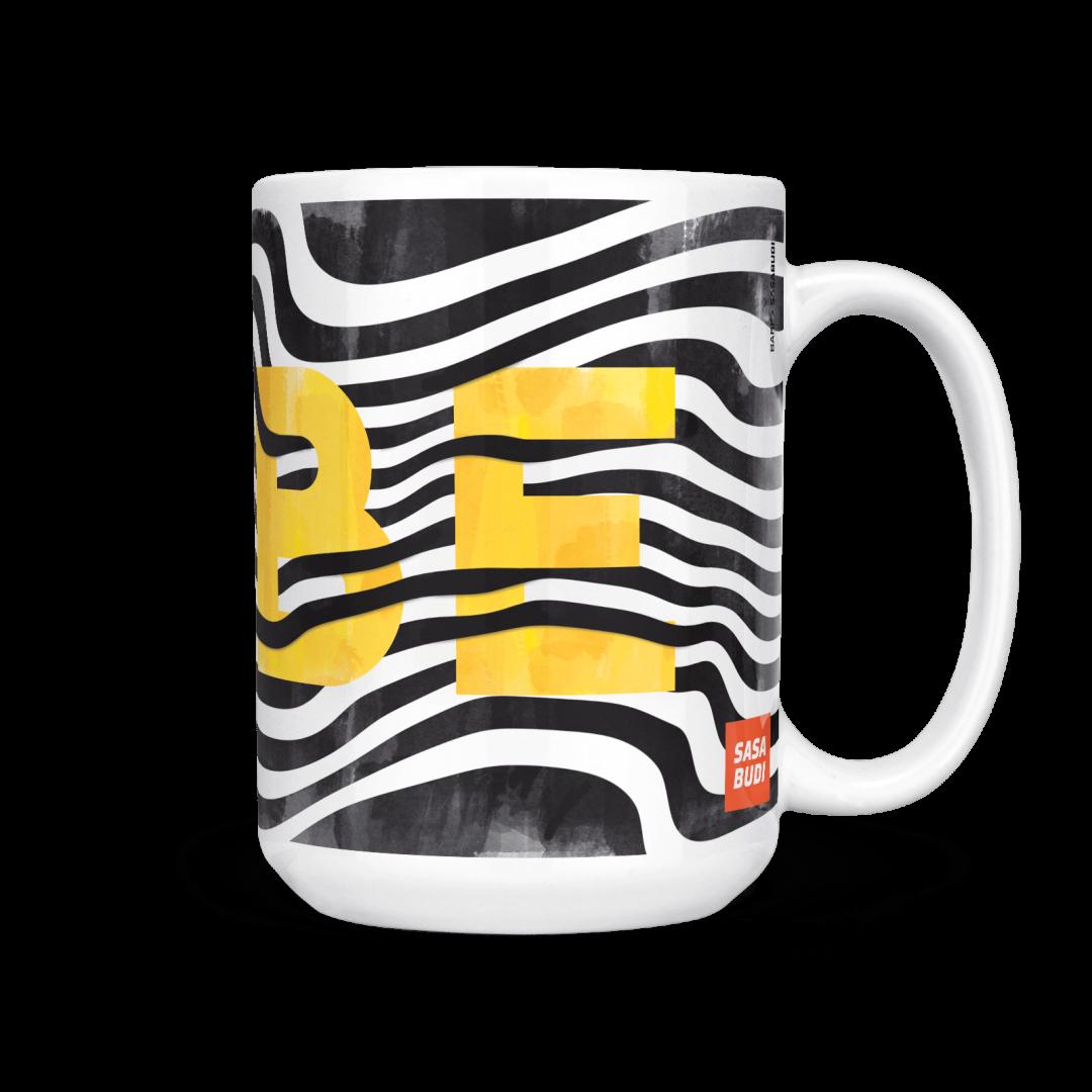 Sasabudi BABE Abstract Coffee Mug 15oz