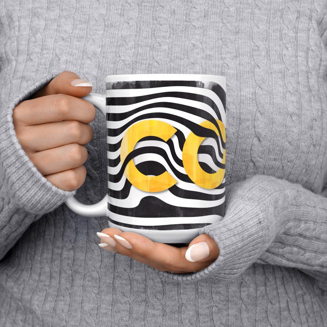 Sasabudi COCO Abstract Coffee Mug 15oz