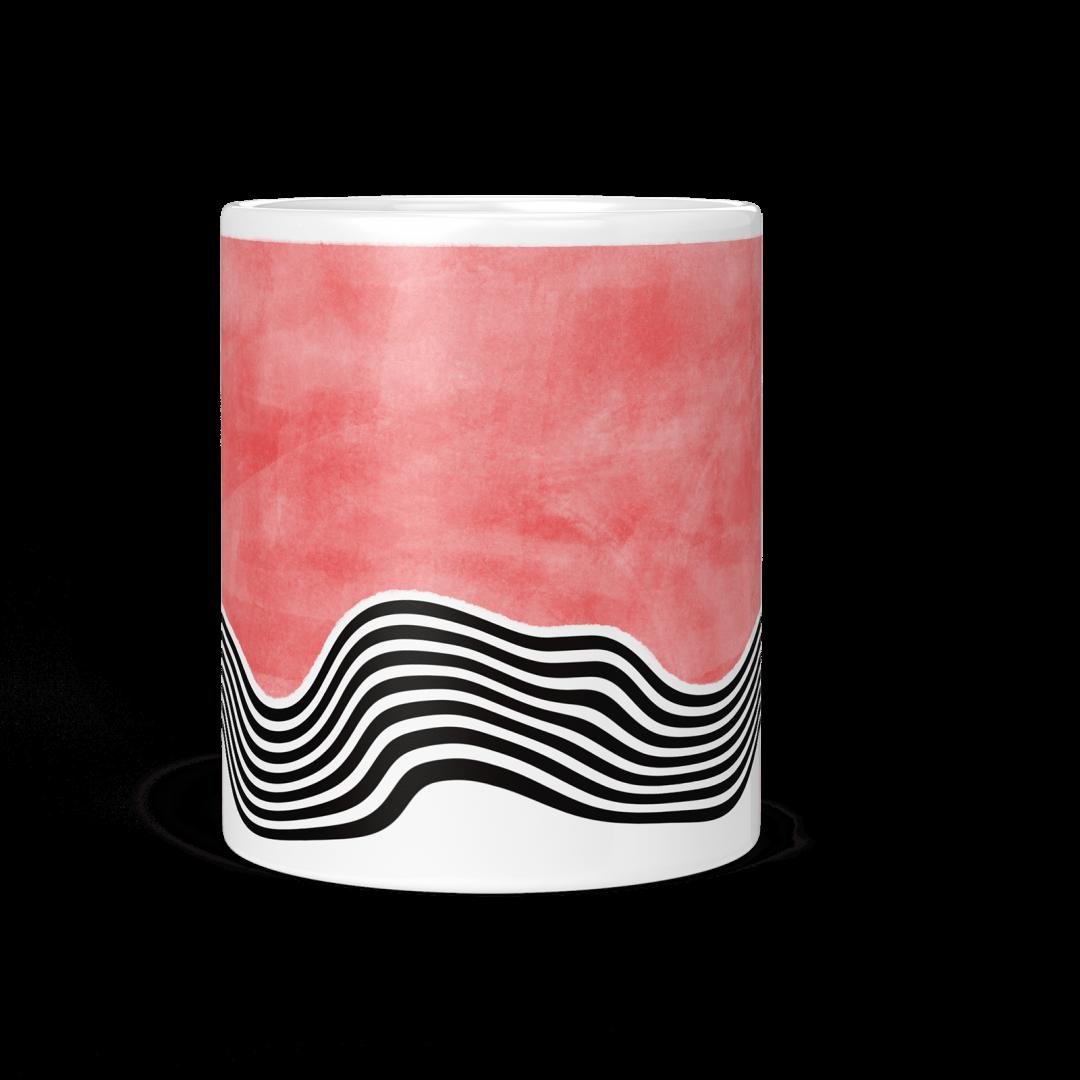 Sasabudi Overflowing Spirit Hot Pink Coffee Mug 11oz