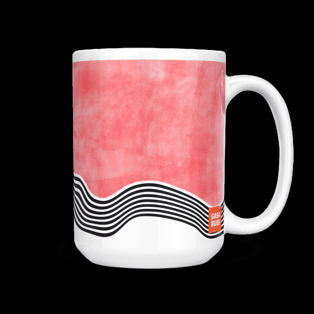 Sasabudi Overflowing Spirit Hot Pink Coffee Mug 15oz