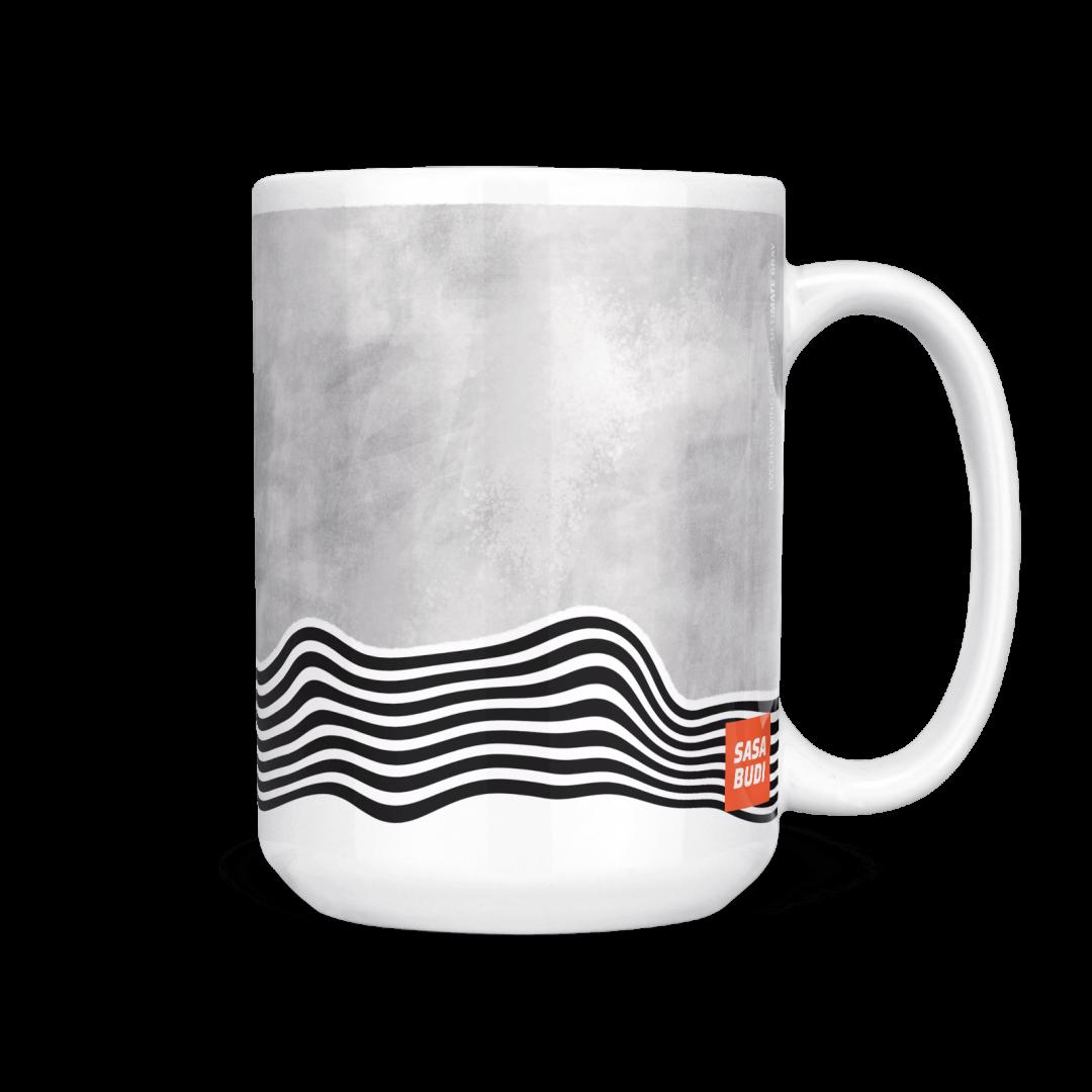 Sasabudi Overflowing Spirit Ultimate Gray Coffee Mug 15oz