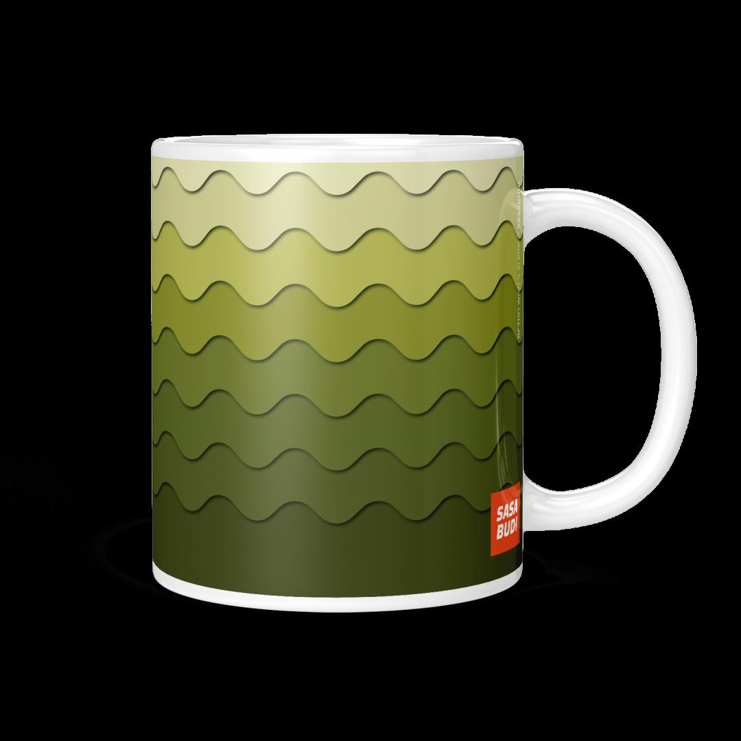 Sasabudi Retro Wave Alpine Geometric Coffee Mug 11oz
