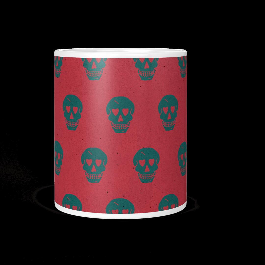 Sasabudi Smiling Skulls Abstract Coffee Mug 11oz